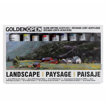 Load image into Gallery viewer, Golden Artist Colors (GAC) Open Slow Drying Acrylics Color Landscape, Set of 8 (957-0)