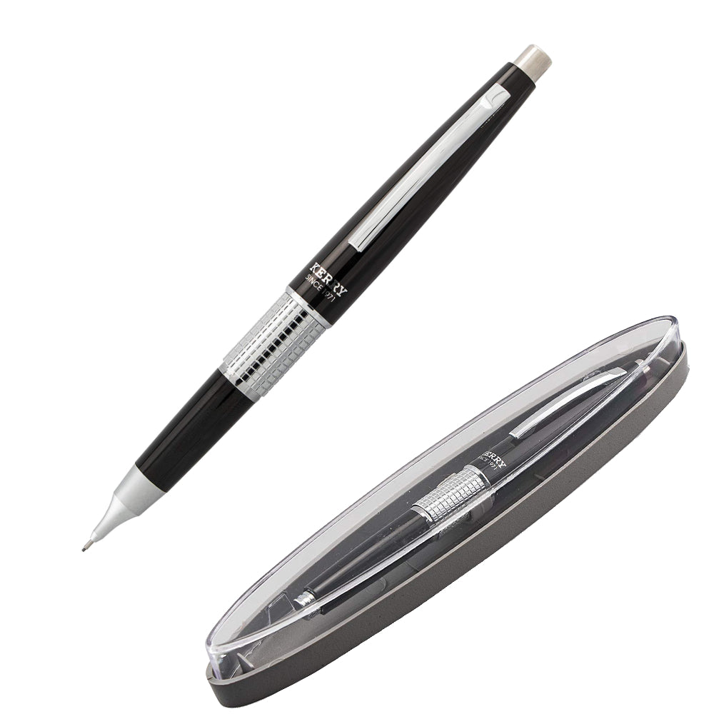 Pentel 0.5mm Sharp Kerry Mechanical Pencil Black Barrel with Cap and Case (P1035A)