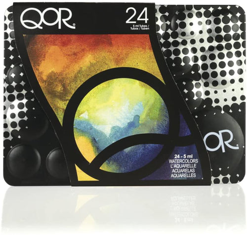 QoR Watercolor, 24 Color Set of 5ml Tubes, Made by Golden Artist Paints