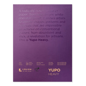 Legion Paper YUPO Heavy White, 10 Sheets, 9 x 12 - L21-YUP389WH912