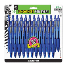 Load image into Gallery viewer, Zebra Pen Z-Grip Ballpoint Retractable Pen, Medium Point, 1.0mm, 24 Count - Blue