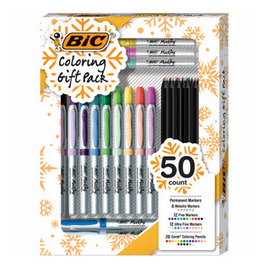 BIC 50 Count Coloring Gift Pack
