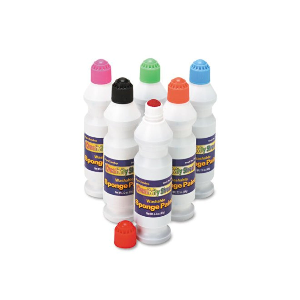 Creativity Street Sponge Paint Set - 6 Assorted Colors, 2.2 oz