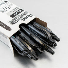 Load image into Gallery viewer, Pentel 0.7mm EnerGel-X Retractable Medium Line Liquid Gel Black Ink Rollerball Pen 12-Pack