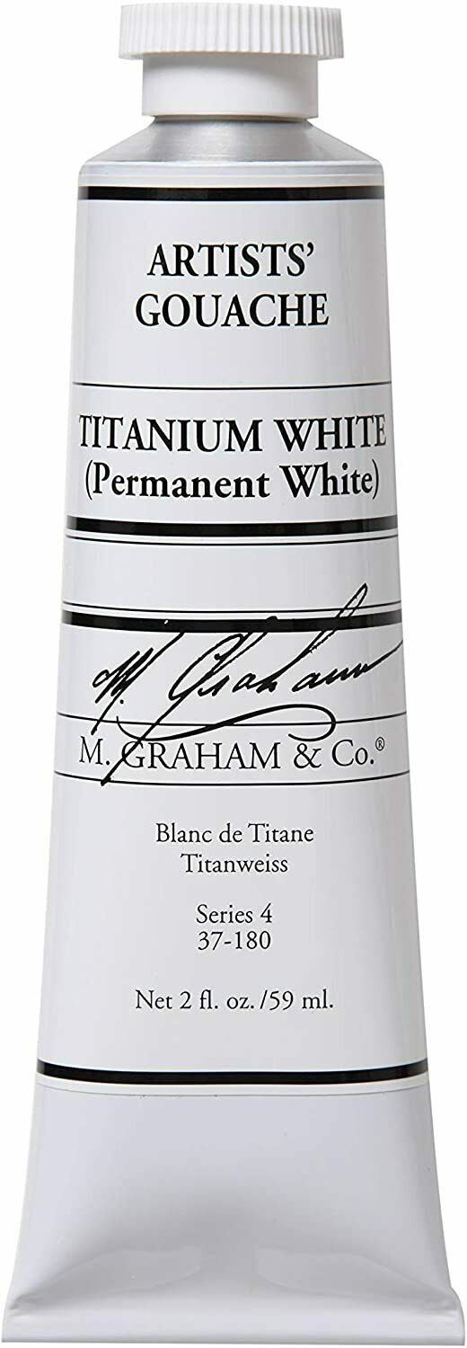 M. Graham 2-Ounce Tube Gouache Paint, Titanium White
