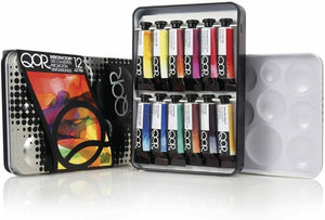 QoR Watercolor, 12 Color Set of 5ml Tubes, Made by Golden Artist Paints