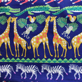 African Animal Fabric Toy Bag or Laundry Bag