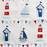 Beach Hut Fabric Toy Bag or Laundry Bag