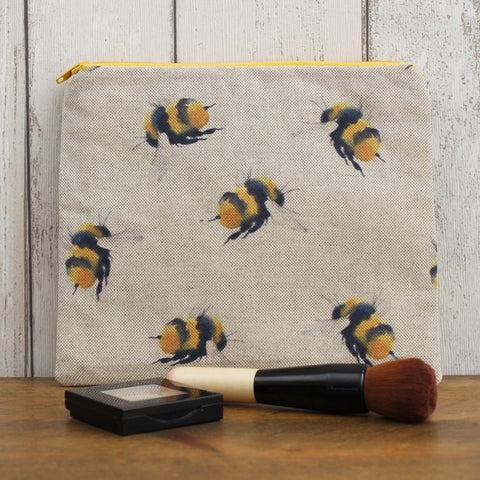 Bumblebee Print Zipped Pouch