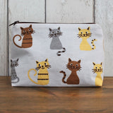 Cartoon Cat Print Makeup Bag