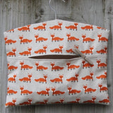 Fox Print Fabric Peg Bag
