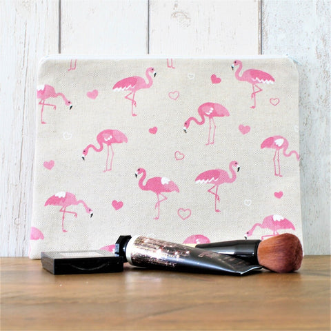 Pink Flamingo Zipped Pouch