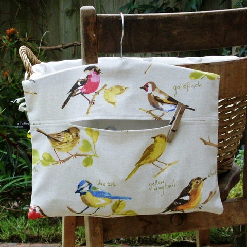 British Garden Birds Peg Bag