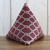 Red and Gold Geometric Fabric Doorstop