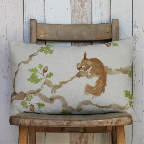 Red Squirrel Horizontal Sofa Cushion