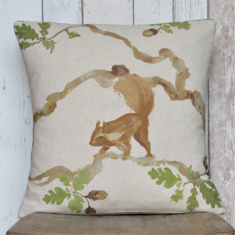 Red Squirrel Square Sofa Cushion