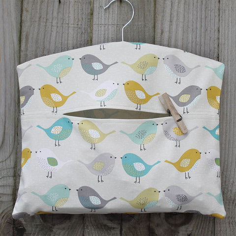 Scandi Bird Print Peg Bag