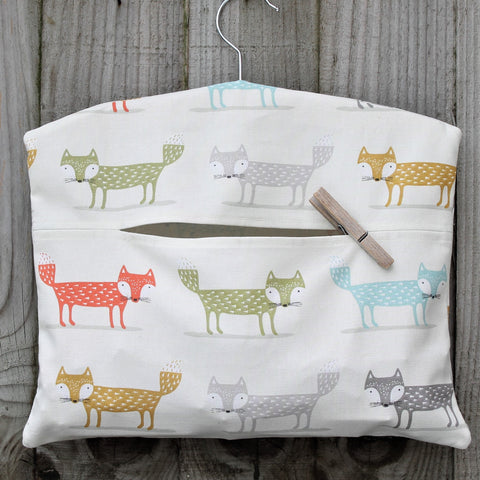 Scandi Fox Print Peg Bag