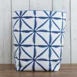 Linear Shibori Fabric Storage Bin (L )