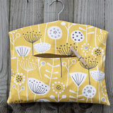 Scandi Floral Print Peg Bag