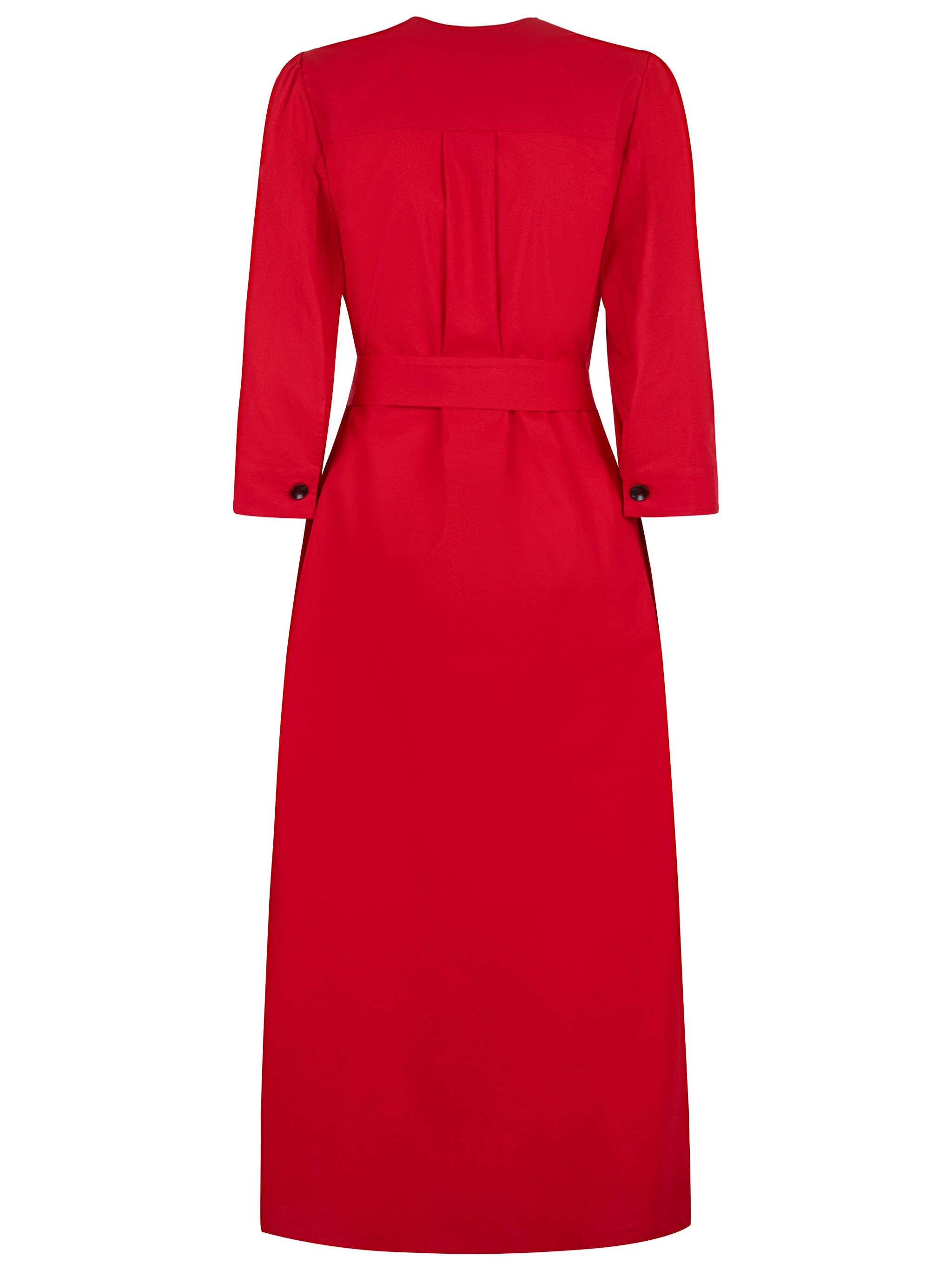 The Raminta Shirt Dress - Lightweight Red - Alice Early