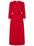 The Raminta Shirt Dress - Summer Red