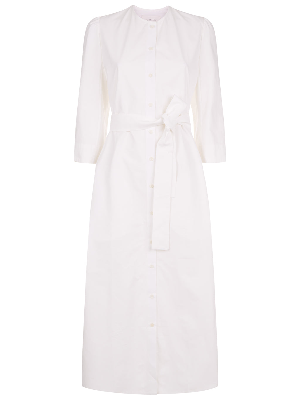 The Raminta Shirt Dress - White - Alice Early