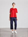 Alice Early Red Organic Cotton Top