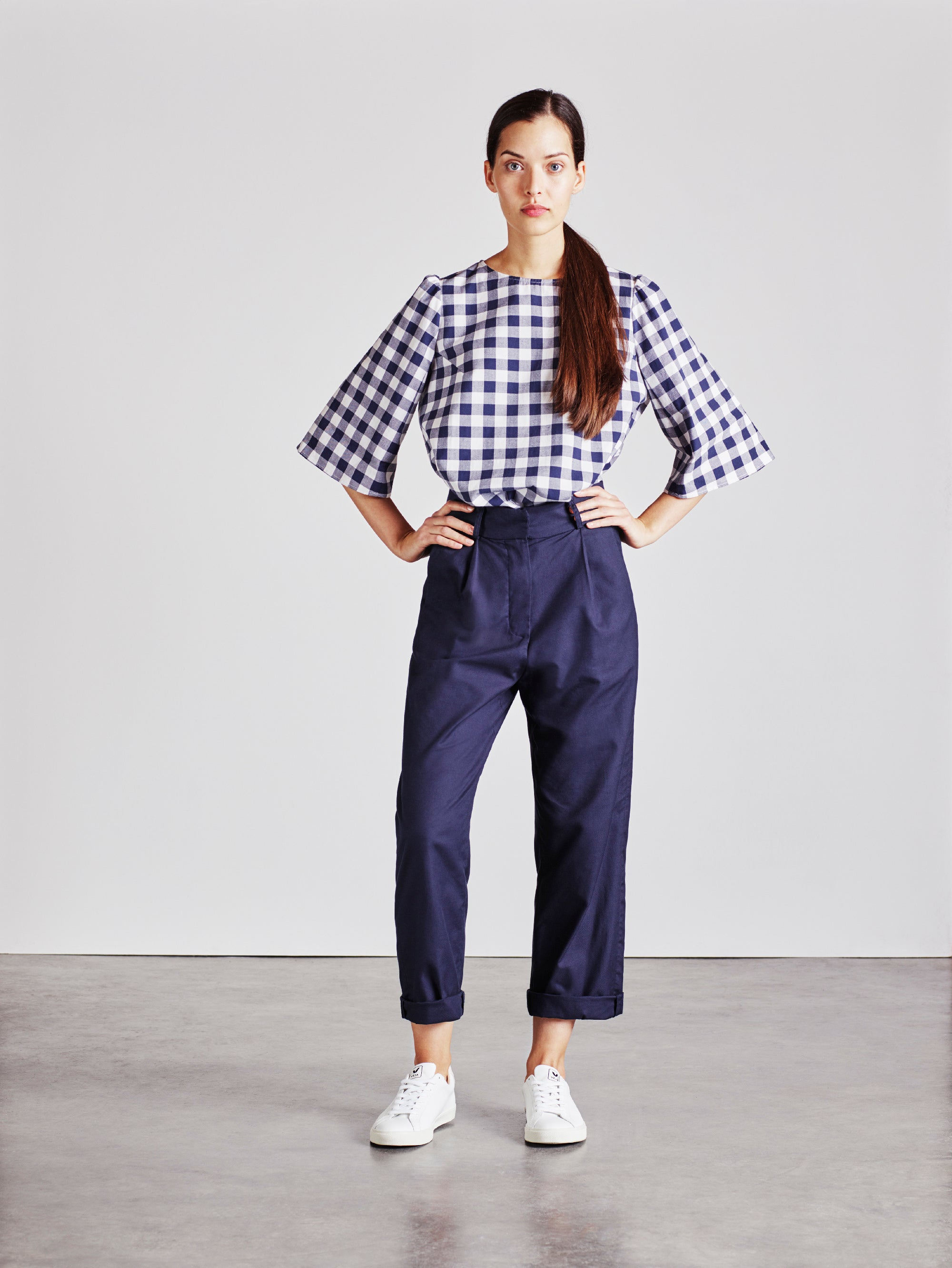 Alice Early Organic Cotton Check Top