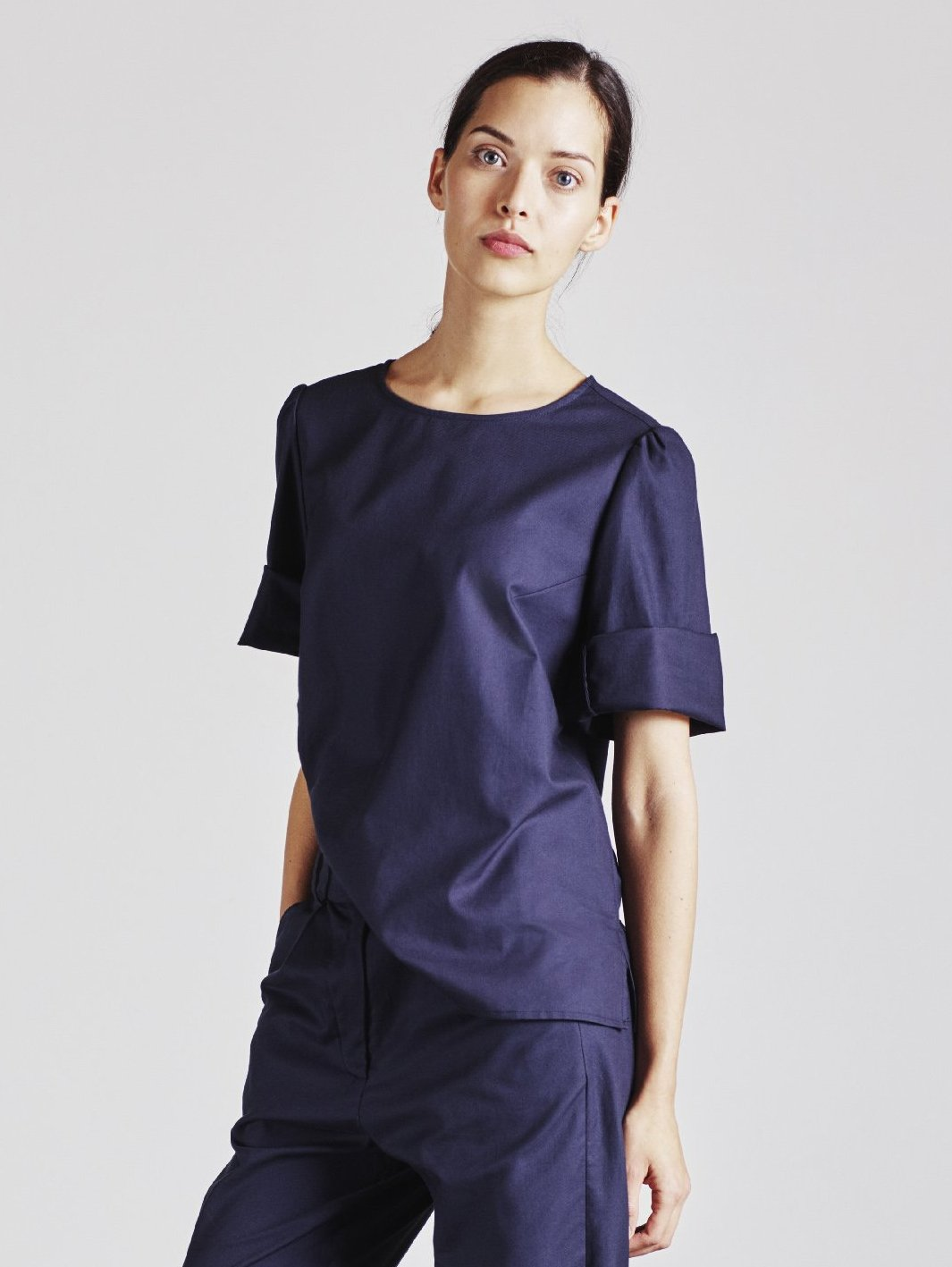 Alice Early Organic Cotton Navy Top