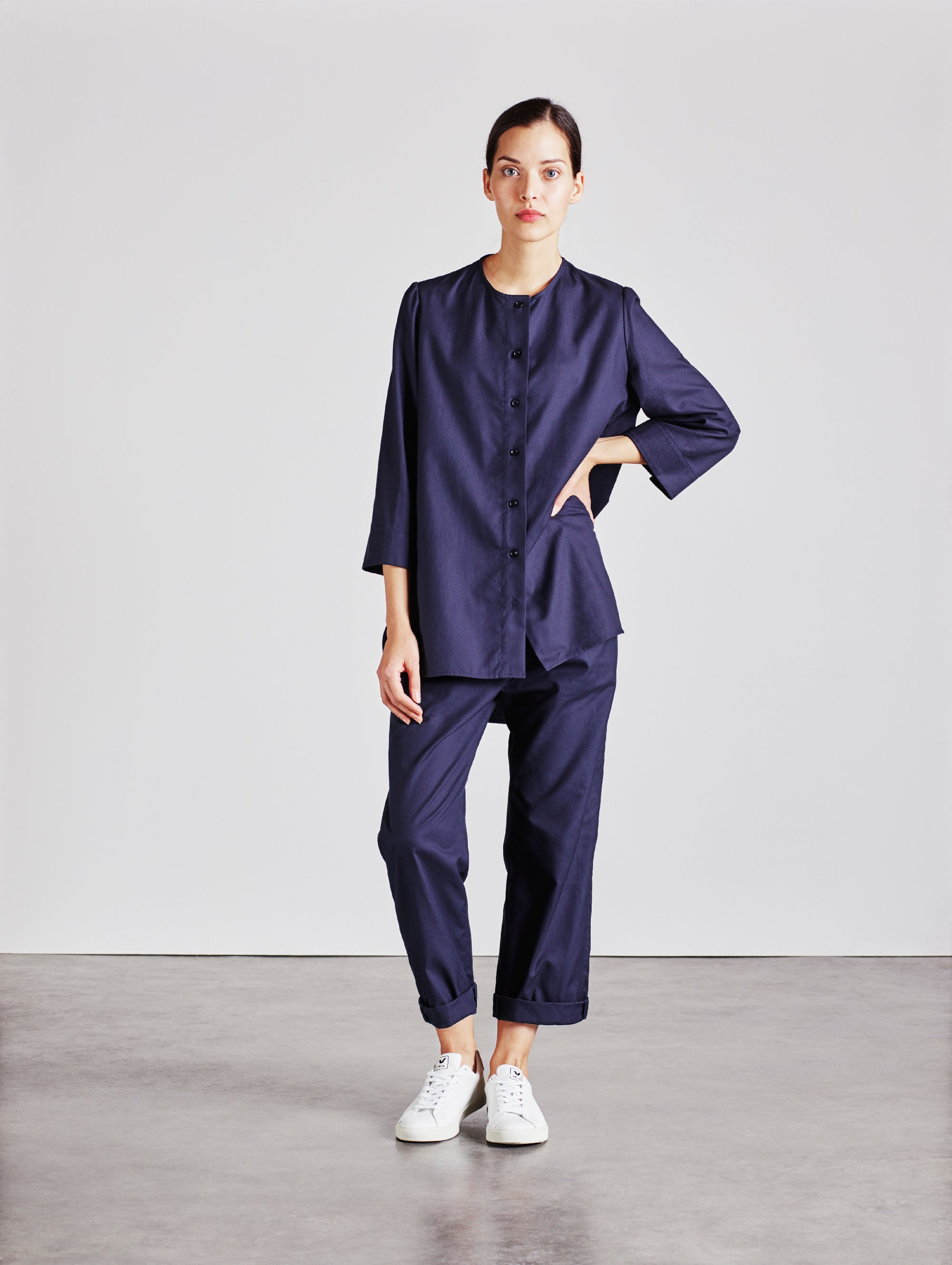 The Bethan Shirt - Navy - Alice Early