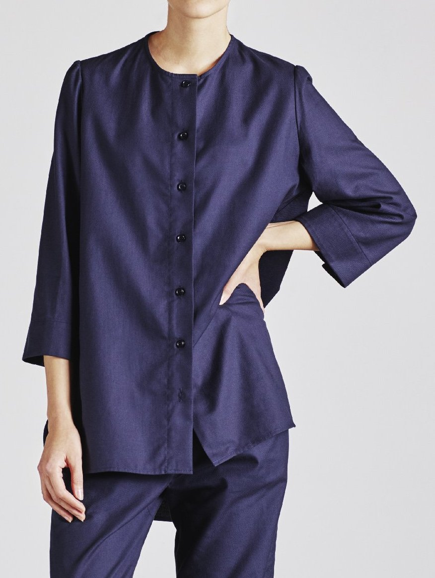 Alice Early Organic Cotton Navy Shirt