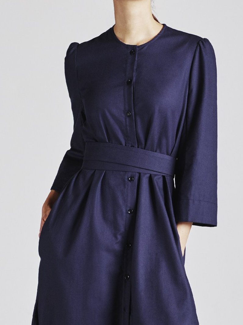 The Raminta Shirt Dress - Navy - Alice Early