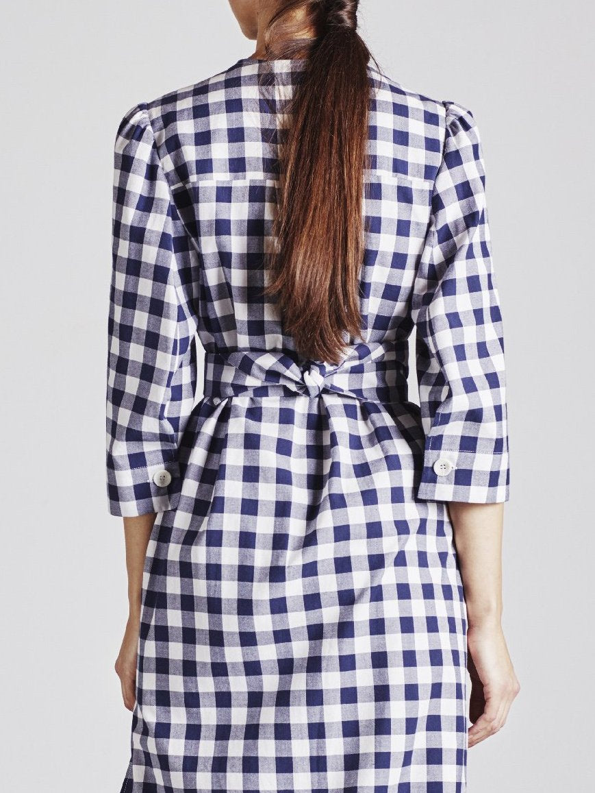 Alice Early Organic Cotton Check Dress