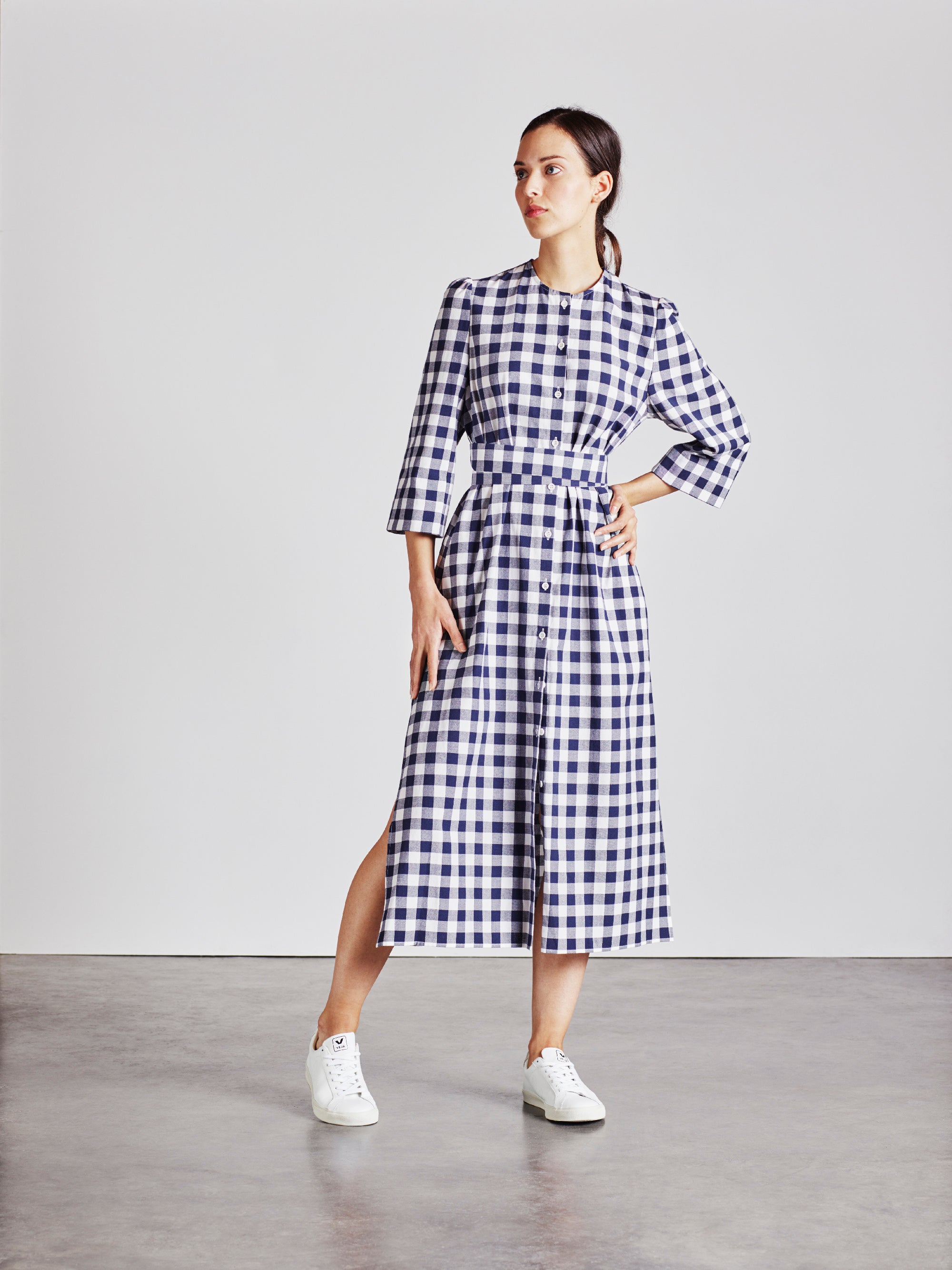 The Raminta Shirt Dress - Check - Alice Early