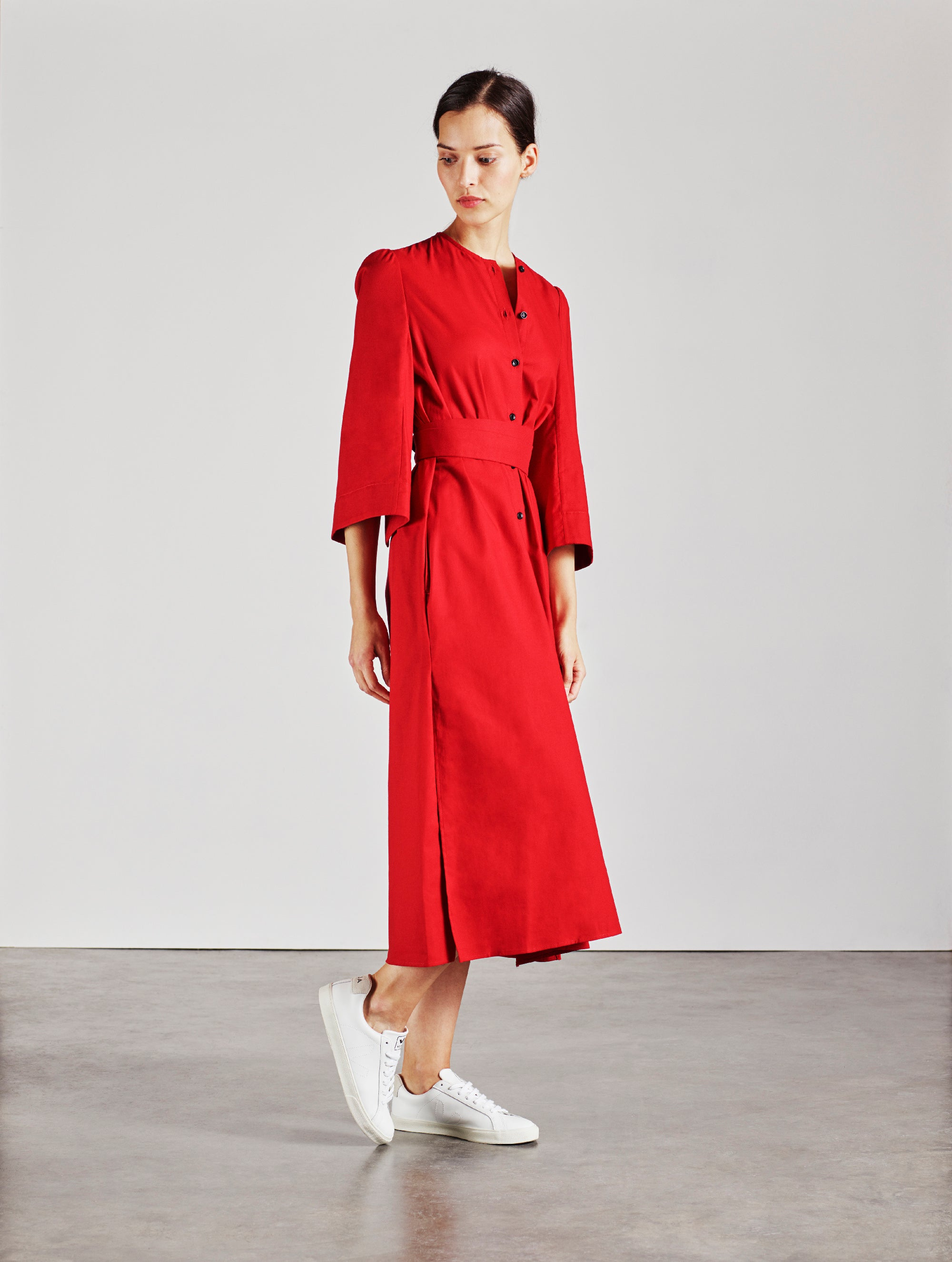 The Raminta Shirt Dress - Red - Alice Early
