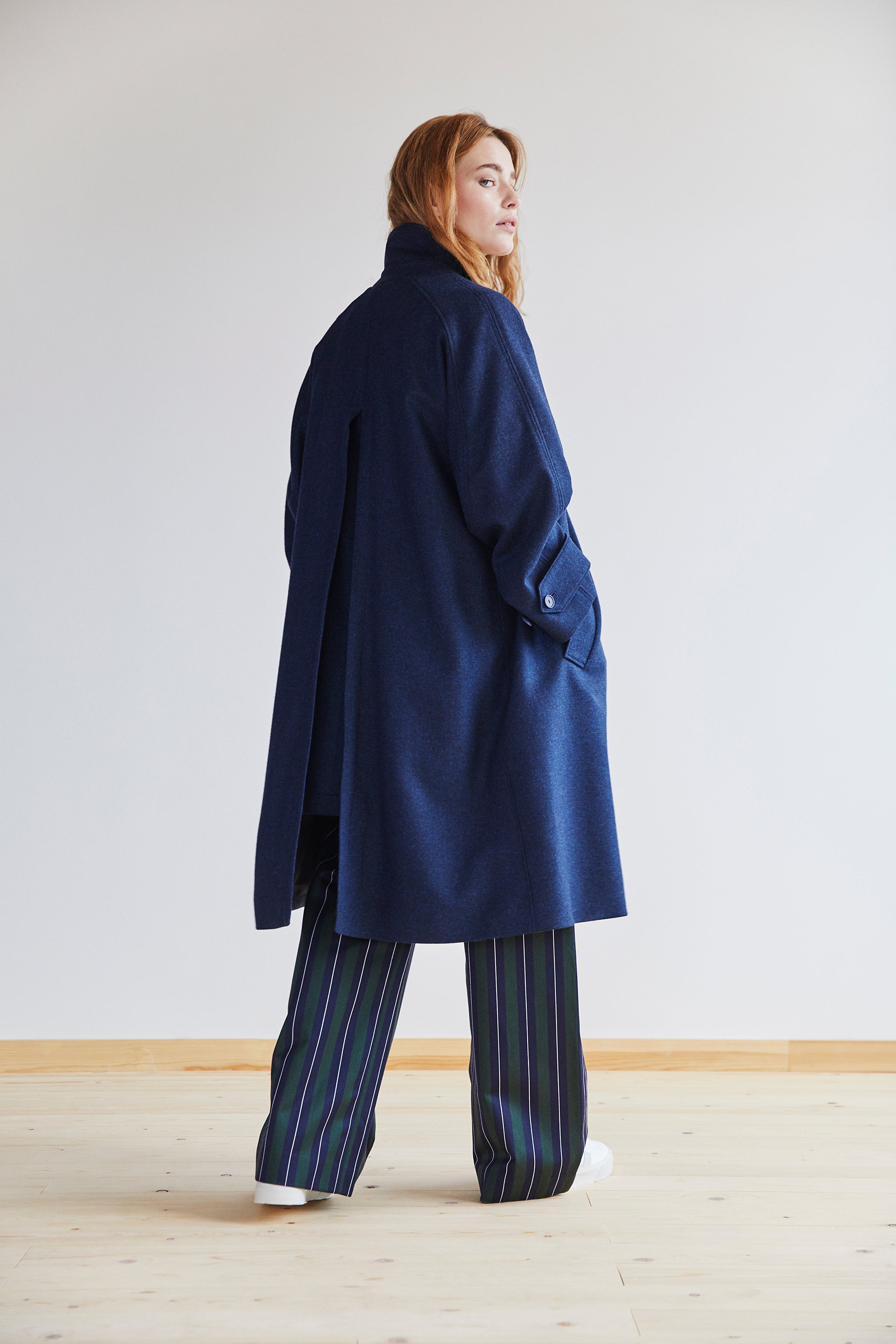 Amaury Coat in Sapphire Blue