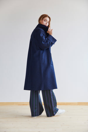 Amaury Coat in Sapphire Blue - Alice Early