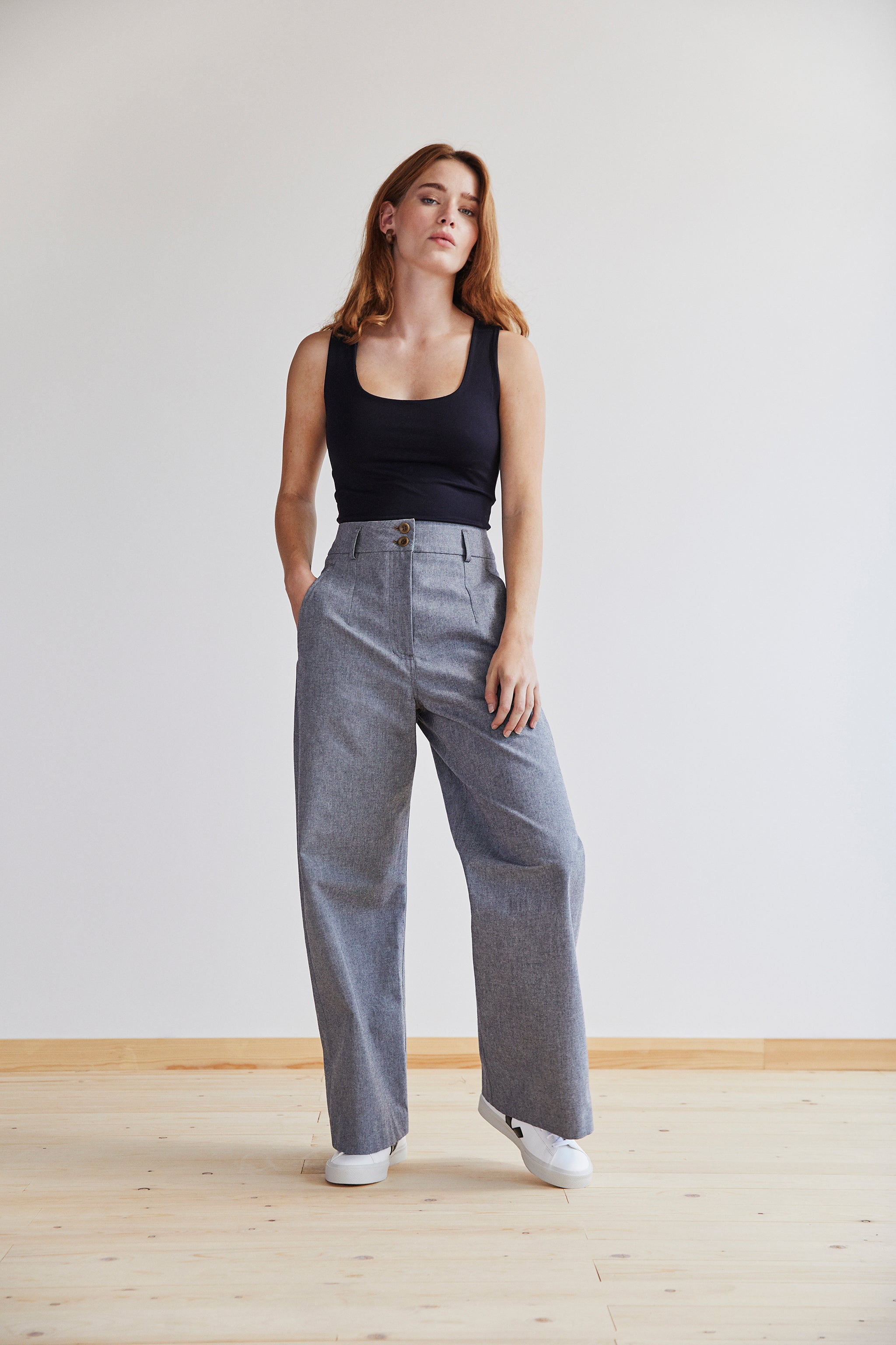 Jessie Trouser in Pewter