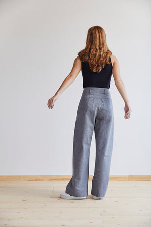 Jessie Trouser in Pewter - Alice Early