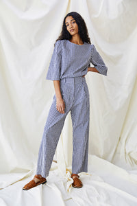 The Ford Trouser - Mini Check - Alice Early