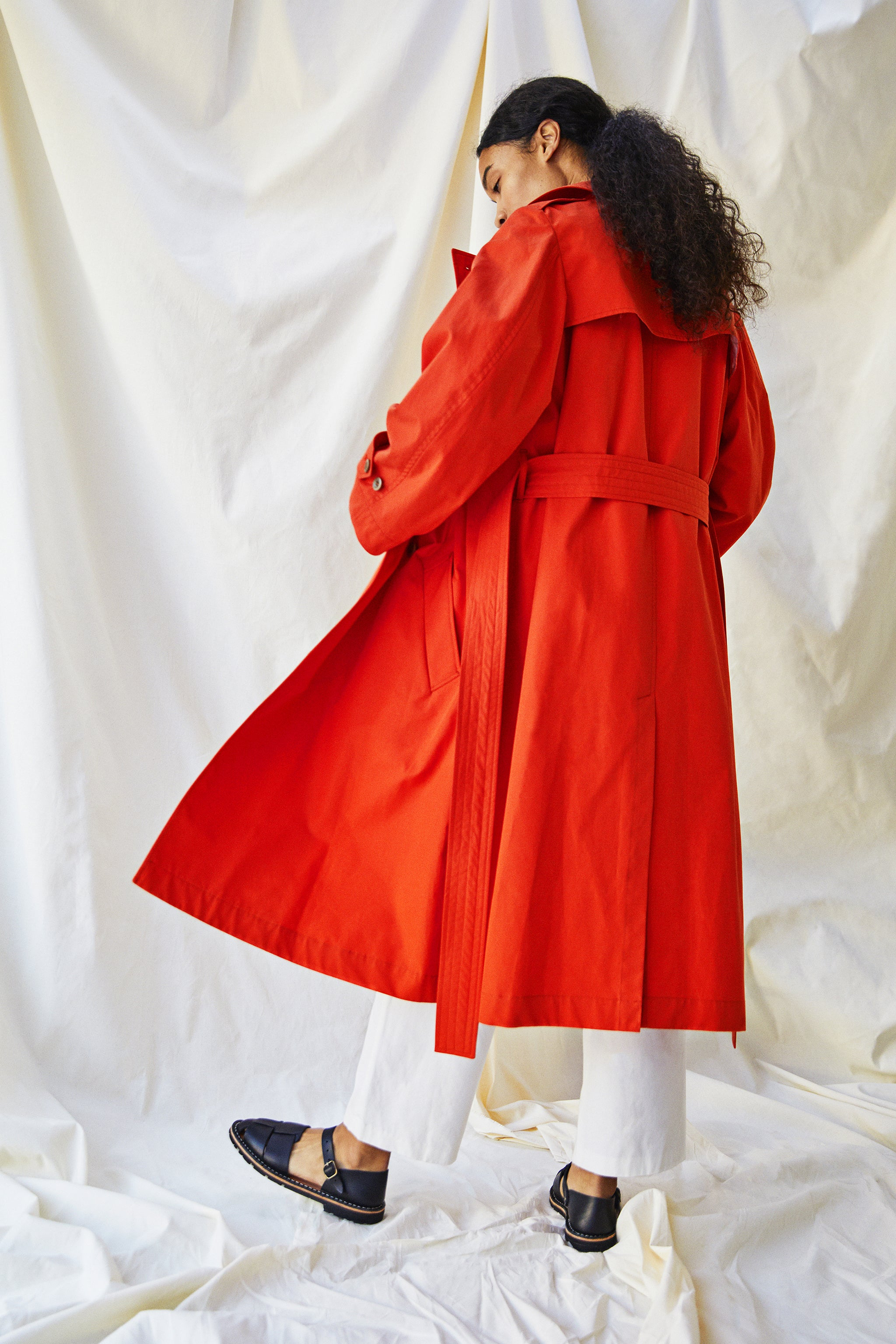 Audrey Trench Coat - Ventile® Orange - Alice Early