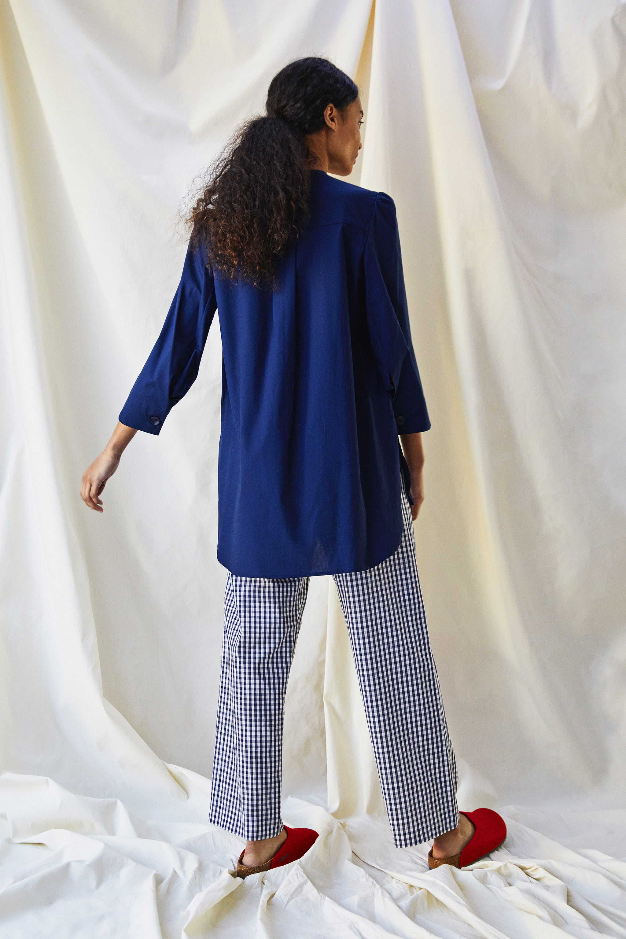 The Bethan Shirt - Indigo Blue - Alice Early