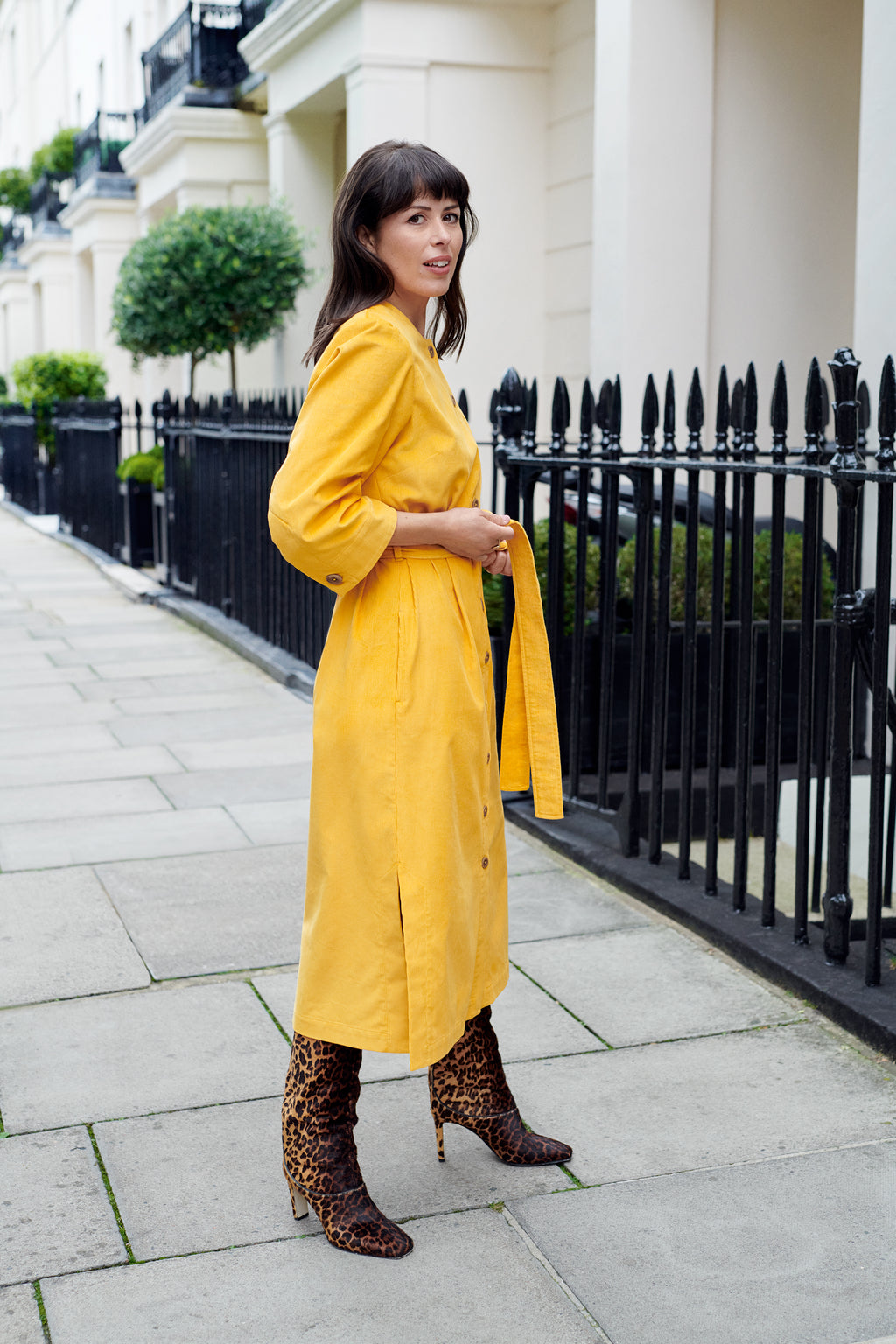 Rhianon Dress - Mustard Yellow - Alice Early