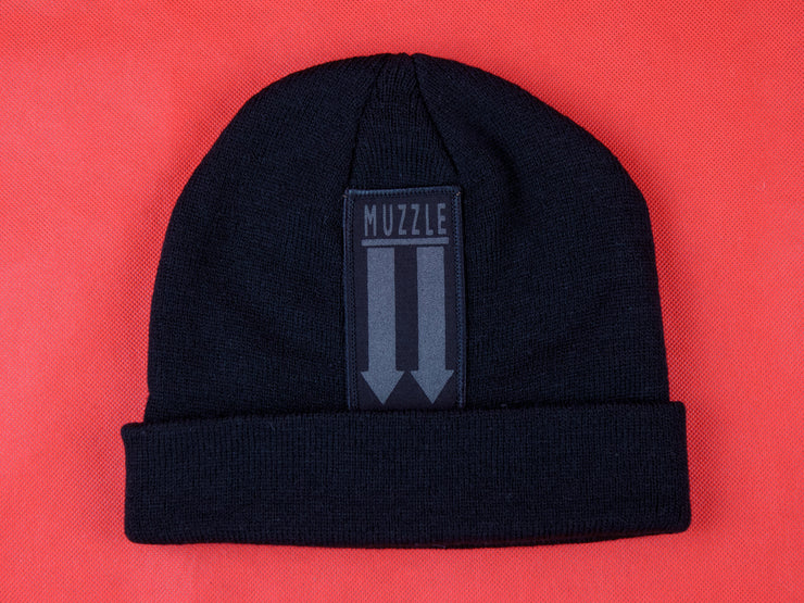 Arrow Patch Beanie (Black)