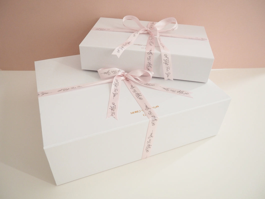 Personalised Luxury White Gift Box