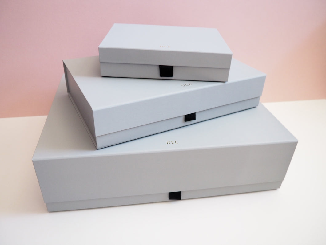 Personalised Luxury Grey Gift Box