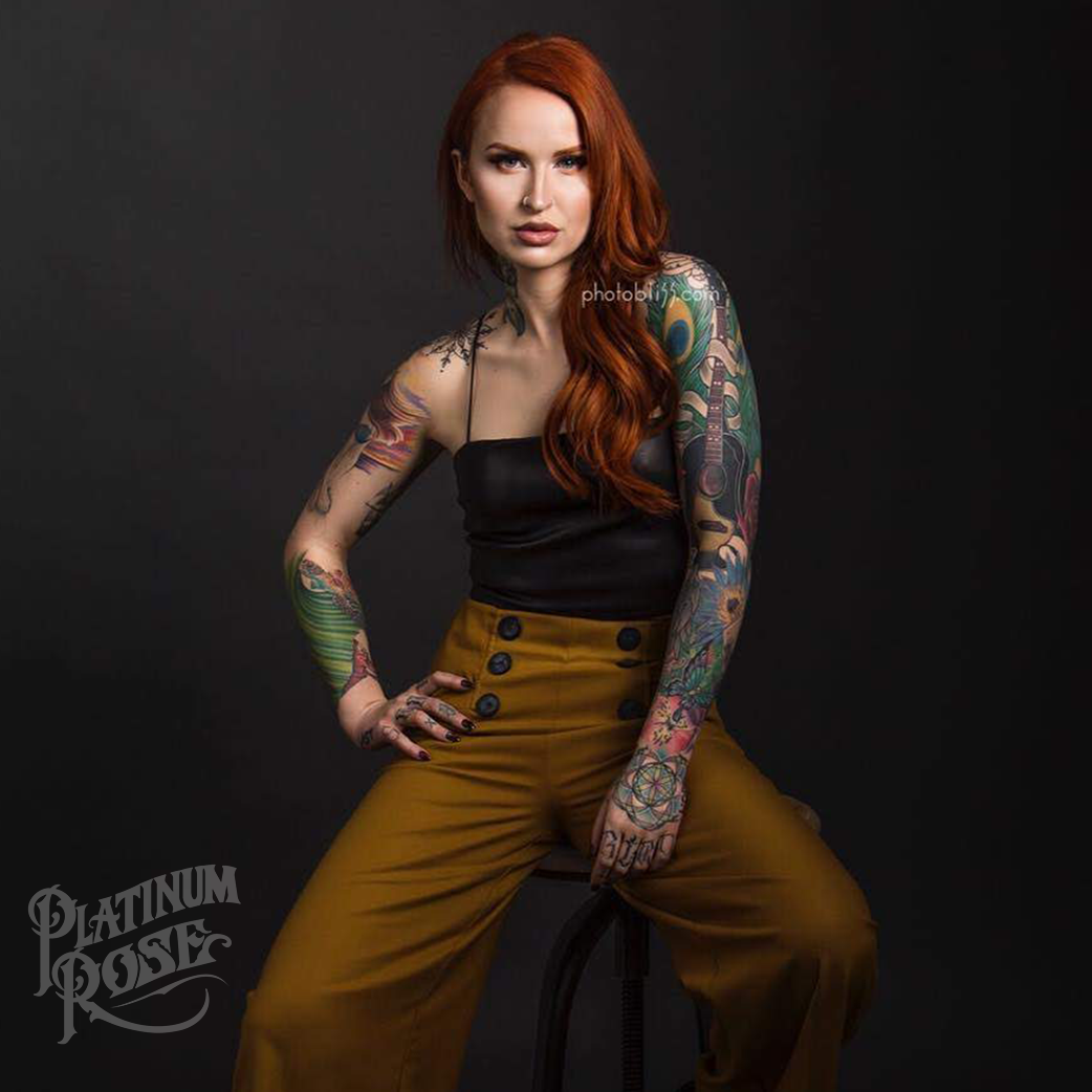 Erin Porter - Platinum Rose Tattoo Aftercare Tattoo Model