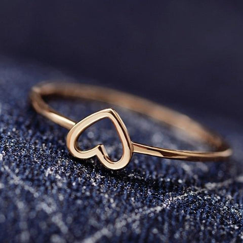 Reppit Rings 10 / Gold Hollow Heart