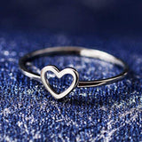Reppit Rings 10 / Silver Hollow Heart